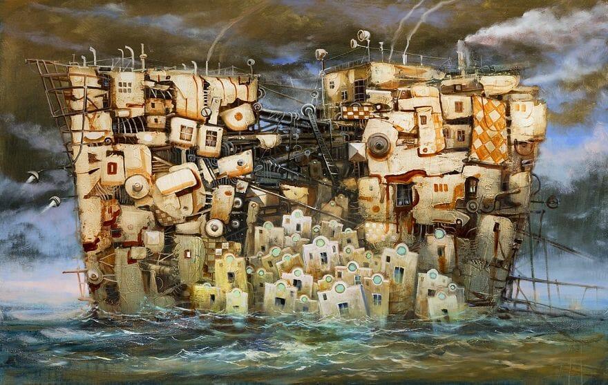 pintura navio imaginário 5