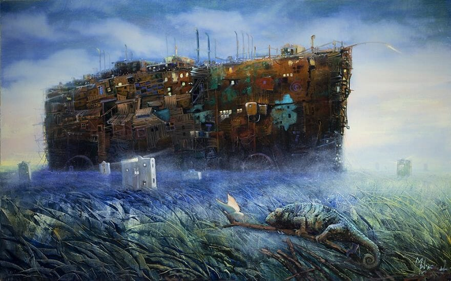 pintura navio imaginário 8