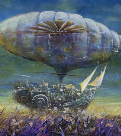 Viaje com estas 20 pinturas de navios imaginários