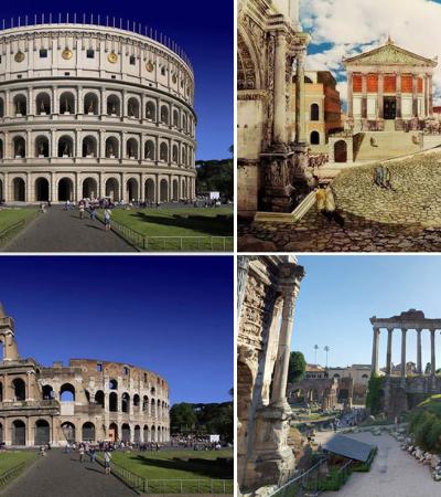Antes e depois: 6 dos pontos turísticos mais famosos do mundo há 2 mil anos e agora