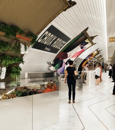 O incrível projeto que irá transformar estação de metrô desativada em centro gastronômico