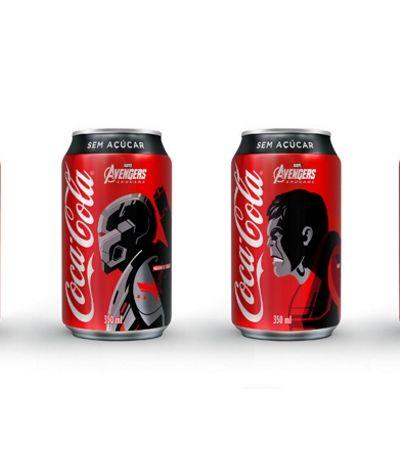 Heróis e heroínas de 'Vingadores: Ultimato' vão parar nas latas e em copos da Coca-Cola