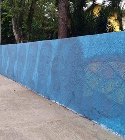 Grafite em homenagem a mortos em Suzano é apagado após reclamações de sobreviventes