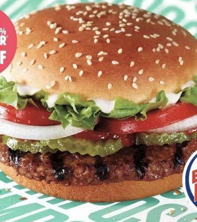 Burger King cria o Impossible Whopper, lanche com carne vegetal, mas sabor de carne