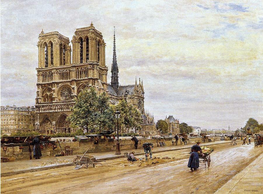 Notre-Dame em registro da artista Marie Francois Firmin Girard