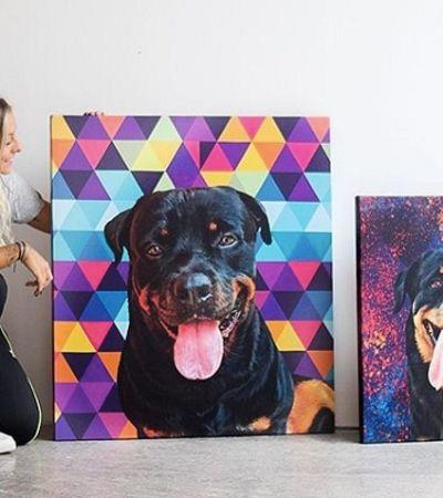 Como a paixão por arte e animais virou uma startup que transforma pets em quadros