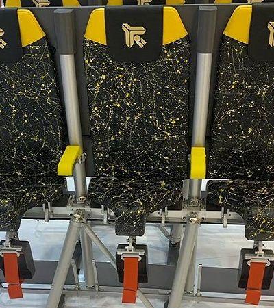 Os bizarros assentos para passageiros ficarem em pé no avião saíram do papel