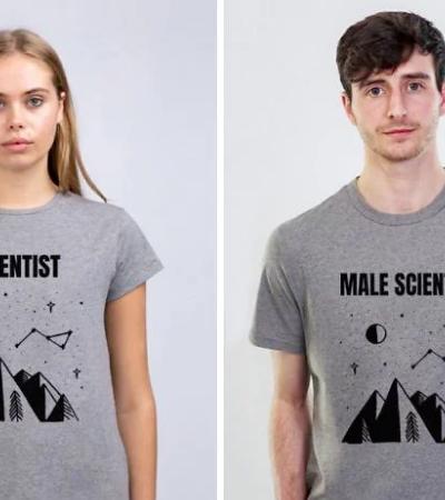 Cria camisetas satirizam homens da mesma maneira que a sociedade faz com as mulheres