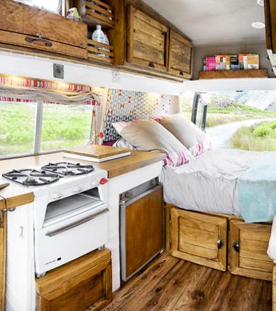 Veja a transformação de 10 vans e ônibus em incríveis e confortáveis casas sobre rodas