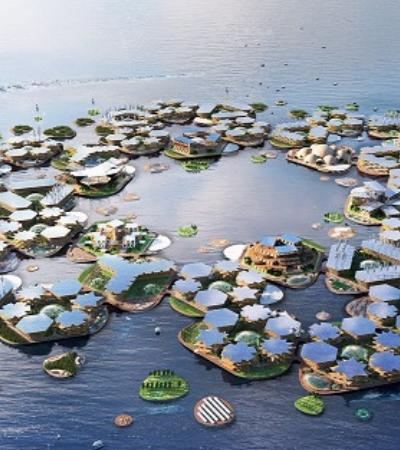 Cidade flutuante que resiste a aumento do nível dos oceanos e furacões é apresentada à ONU