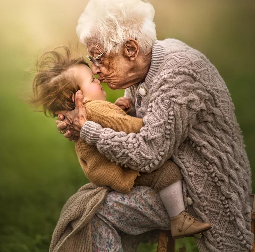 fotografia avós e netos 1