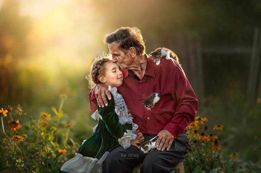 fotografia avós e netos 12