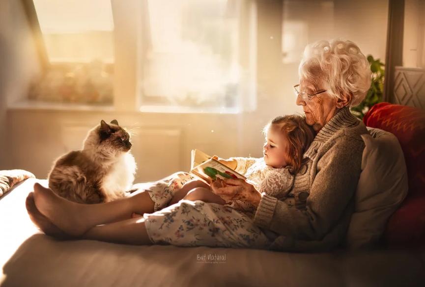 fotografia avós e netos 8