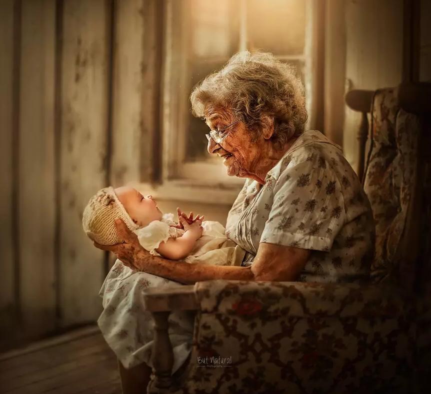 fotografia avós e netos 9