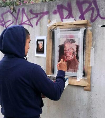 Artista usa grafite para levar pinturas de museus para as ruas