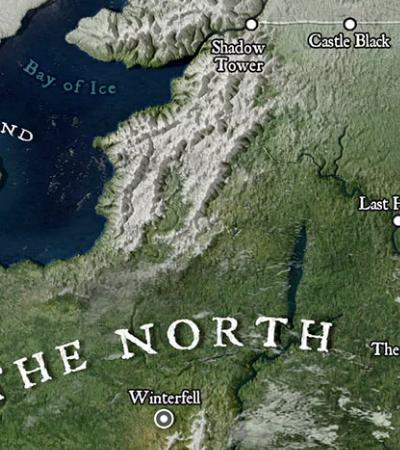Fãs de GOT criam mapa de Westeros em alta definição que parece Google Maps