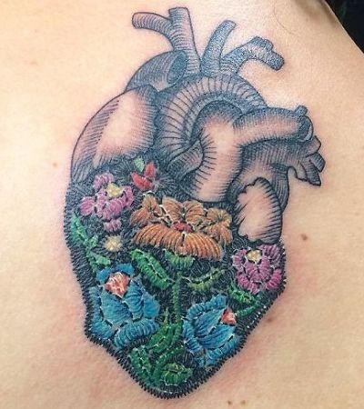 As maravilhosas tattoos de bordado estão se espalhando pelo mundo