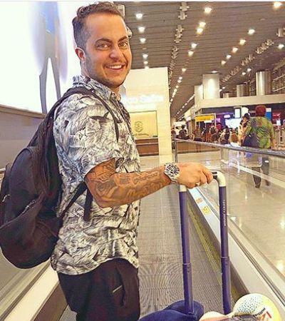 Só volto pai!', celebra Thammy Miranda ao embarcar com esposa para os EUA