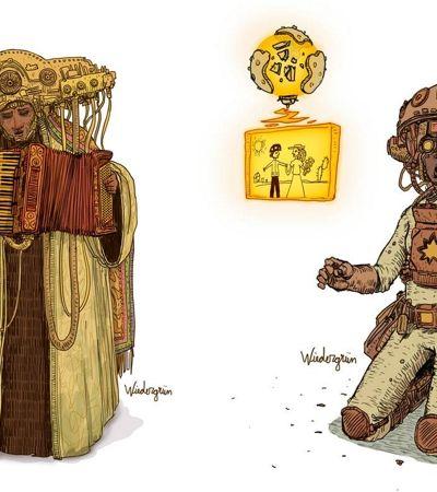 Ilustrador brasileiro cria o cybergreste, mistura de Lampião com Blade Runner