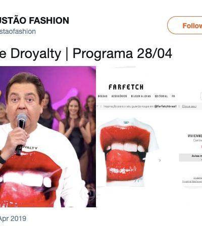 'Oh loquinho, meu!': Perfil do Twitter desvenda os outfits mais ousados do Faustão