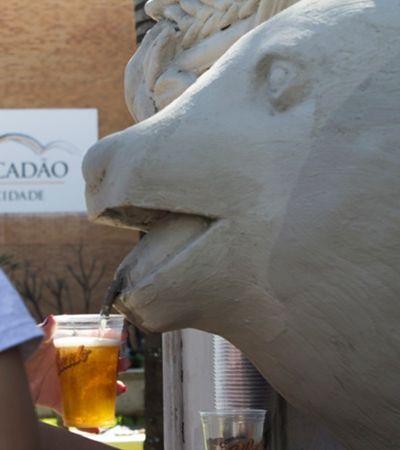 Queremos agora! Colorado cria fonte de cerveja no interior de SP