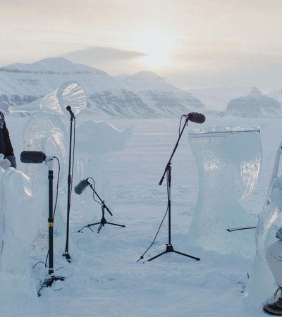 Orquestra de gelo toca música no Ártico para alertar para o futuro dos oceanos