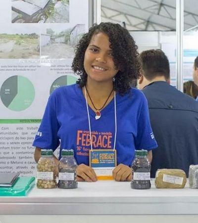 Aluna de escola pública do Pará cria tijolo de caroço de açaí e ganha 15 prêmios