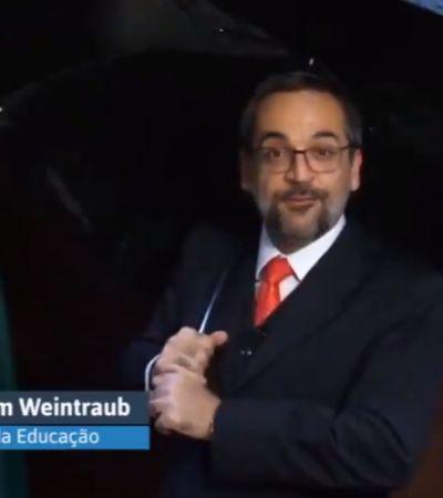 Ministro da Educação conjuga verbo 'haver' errado e lembra que manifestações de hoje importam