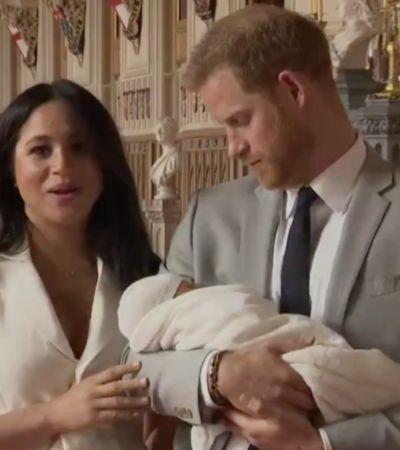 As primeiras imagens do bebê real, sétimo na sucessão da coroa britânica
