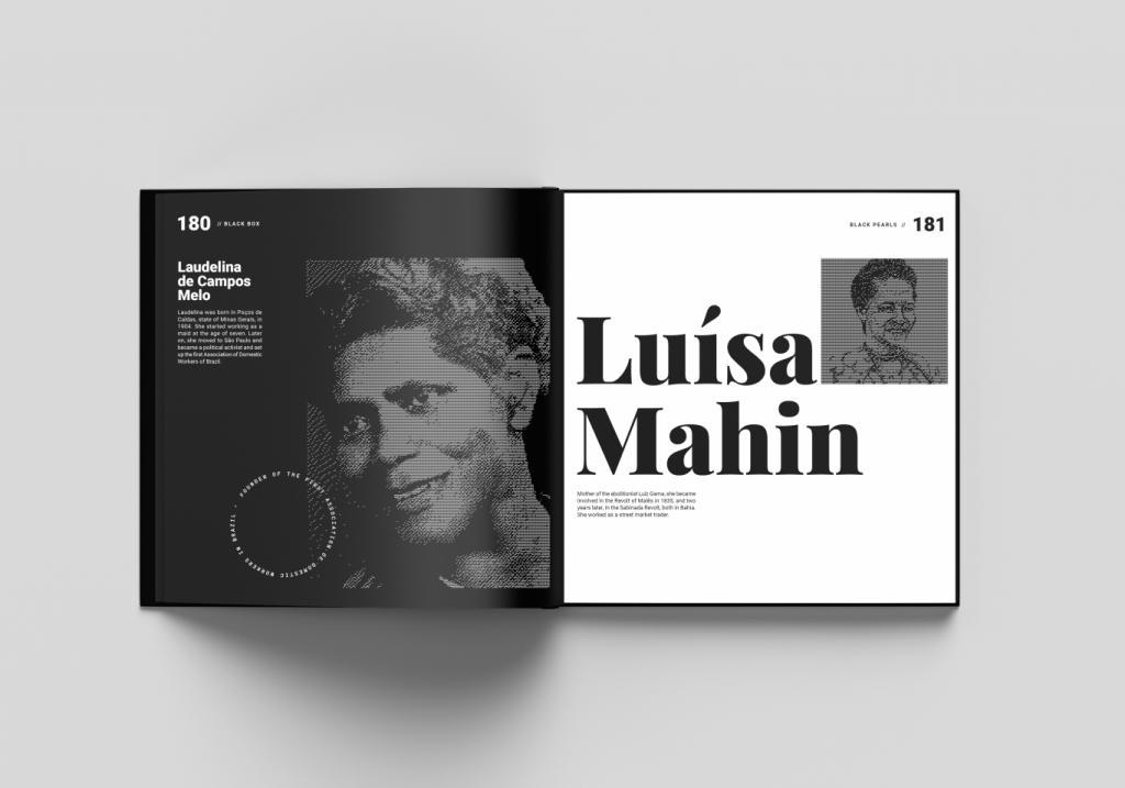 Páginas do livro que falam sobre Laudelina de Campos Melo e Luísa Mahin