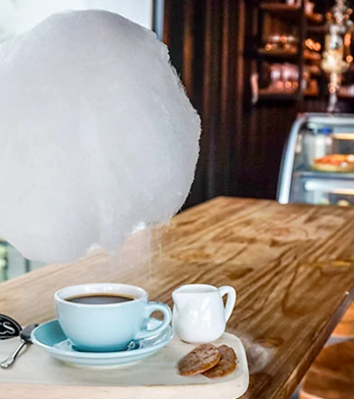 O maravilhoso café que serve nuvens de algodão doce para melhorar o seu dia