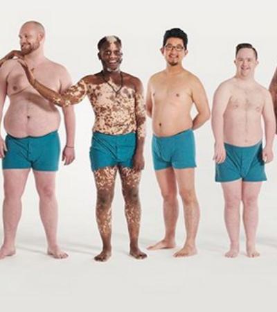 Campanha pede mais corpos masculinos reais na publicidade