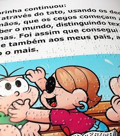 Livros da Turma da Mônica em braile serão distribuído em escolas de SP