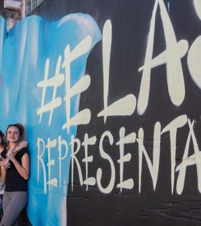 Grafiteiras pintam ruas de SP para a Copa do Mundo feminina