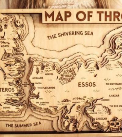 Estes mapas de 'Game Of Thrones' em madeira realizam os sonhos de qualquer fã