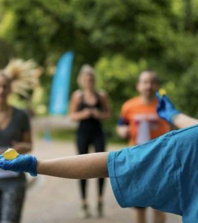 Maratona de Londres substitui garrafas por bolsas de água biodegradáveis