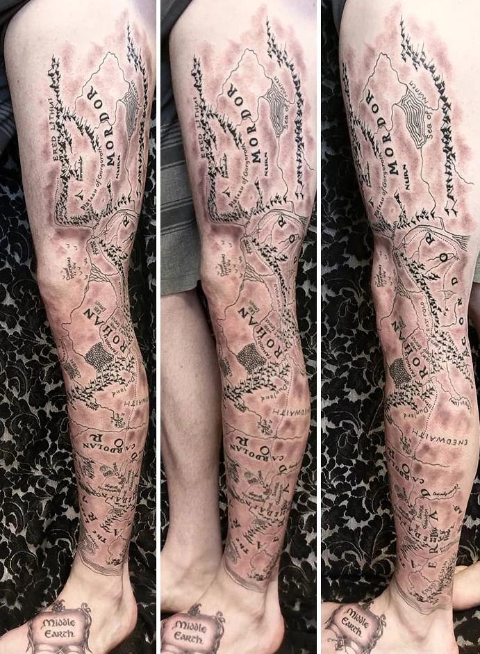 tatuagem de perna 10