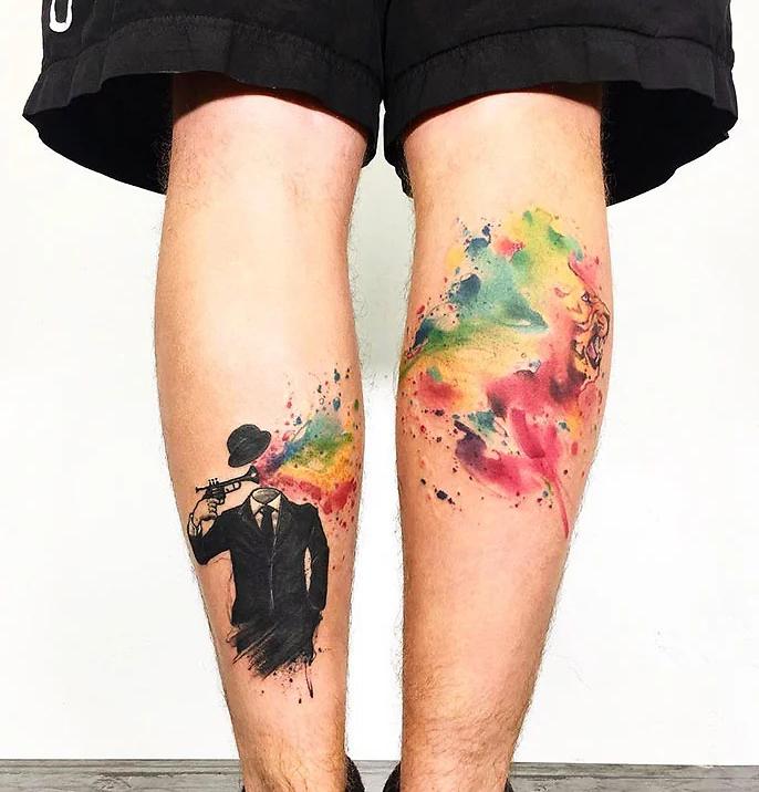 tatuagem de perna 15