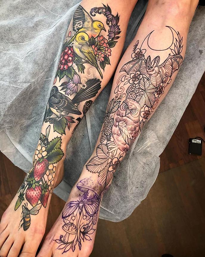 tatuagem de perna 5