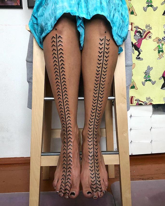 tatuagem de perna 7