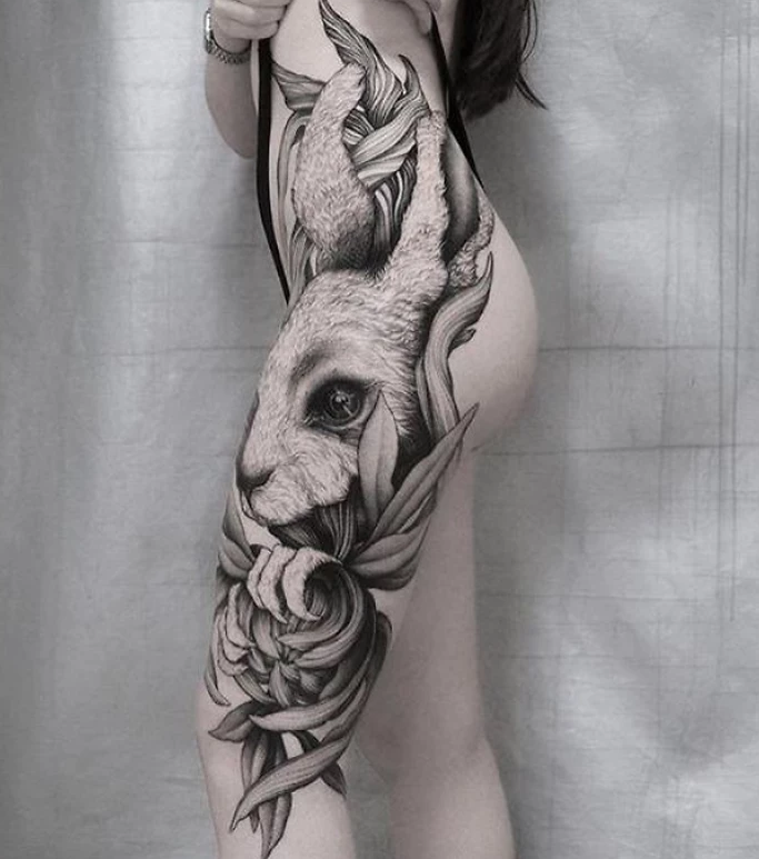 tatuagem de perna 8