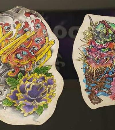 Esta funerária emoldura a pele tatuada de entes queridos que se foram como lembrança