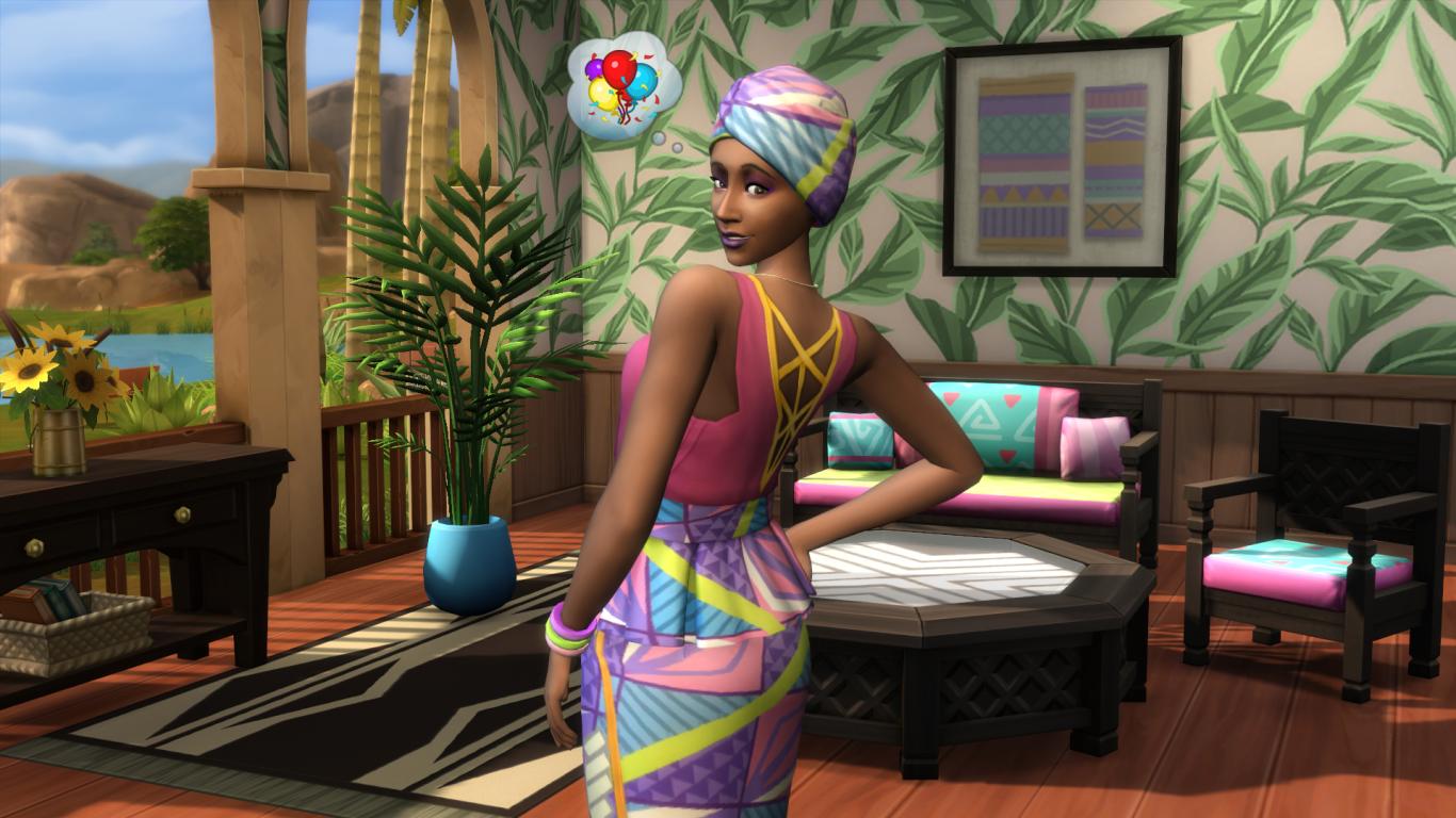 Personagem feminina do game The Sims