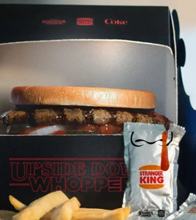 Burger King lança Whopper do Mundo Invertido para estreia de 'Stranger Things'