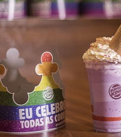 'Unicorn Shake' do Burger King celebra diversidade e dá água na boca