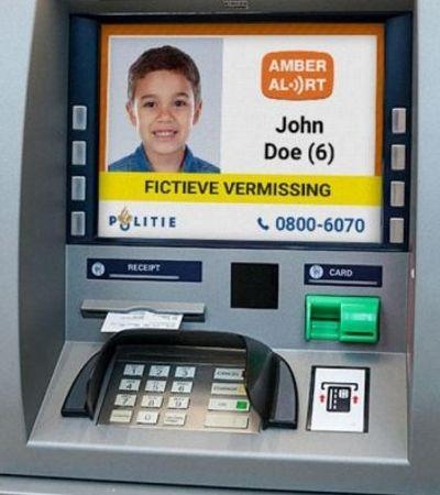 Holanda cria ação que mostra crianças desaparecidas em caixas eletrônicos