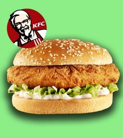 KFC cria o Hambúrguer Impostor, seu novo lanche com 'frango' vegano