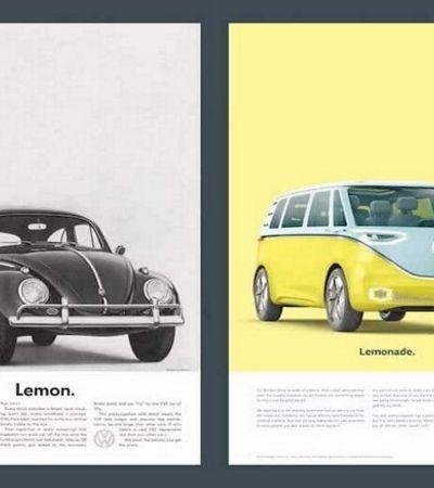 Volkswagen recria anúncio retrô do Fusca para campanha da nova Kombi elétrica