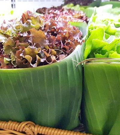 Embalagem de folha de bananeira começa a ser usada em supermercado de SP