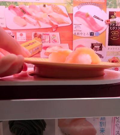 Kaitenzushis: os tecnológicos sushis de esteira express feitos por robôs no Japão